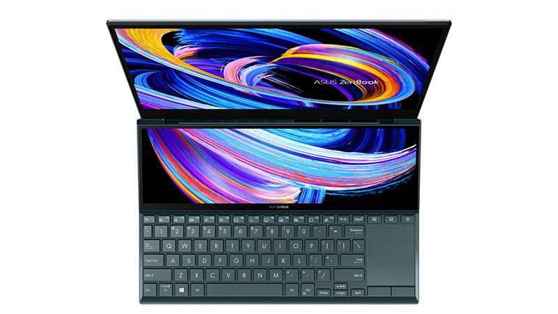 Asus ZenBook Duo 14 top view