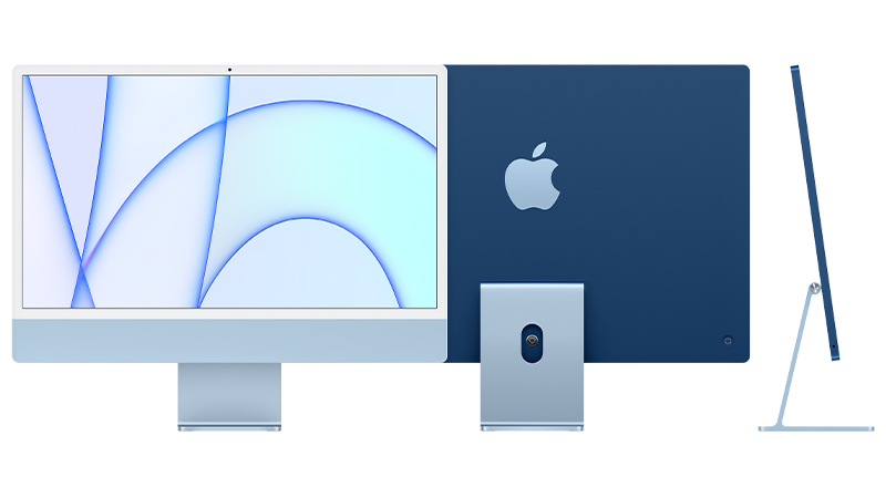 """24"""" iMac front, back, and side view"""