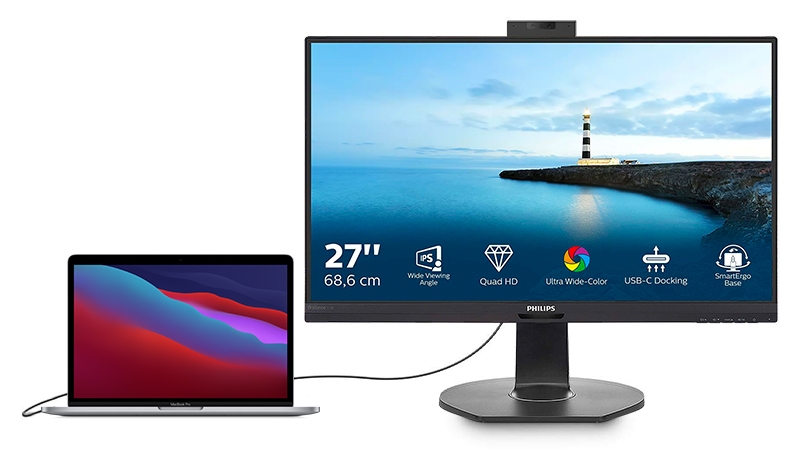 Philips 27 Display with MacBook Pro 13 inch