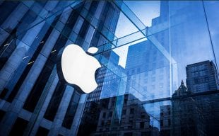apple store and logo on clear glass