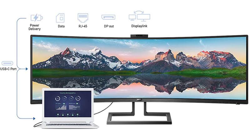 Phillips 49″ 5K Display with Integral USB-C Dock