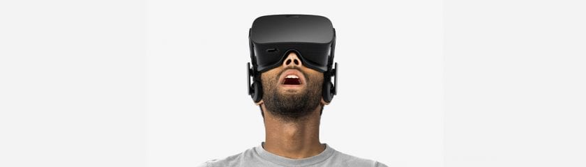 Virtual Reality Picture with someone wearing a headset