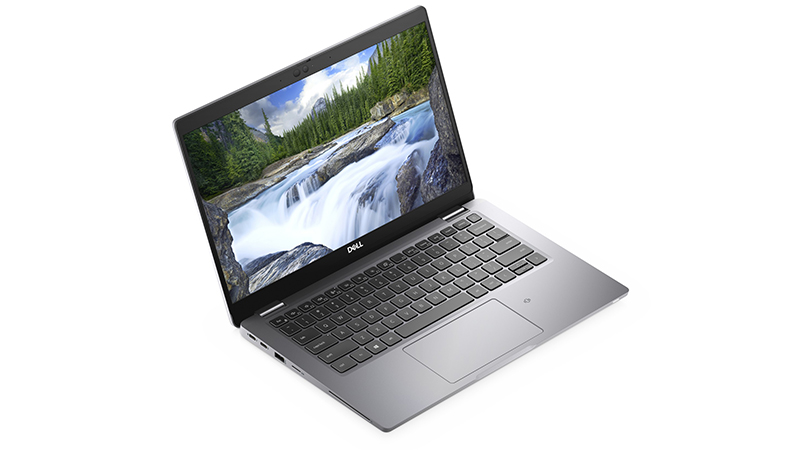 Dell Latitude 5320 side aerial view