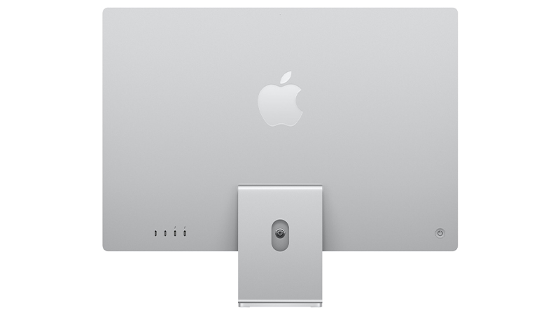 iMac 24 silver back view