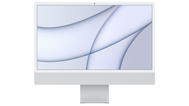 iMac 24 silver front view