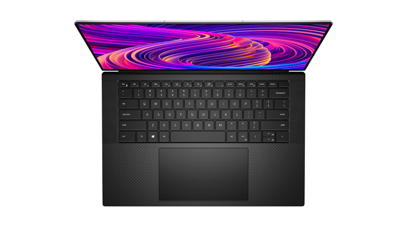 Dell XPS 15 top view