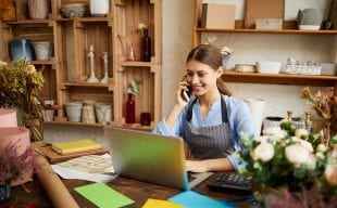 Small business using affordable technology