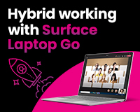 hybrid working with Surface Laptop Go