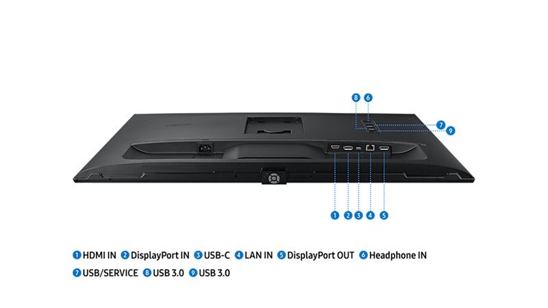 Samsung S60UA back ports view