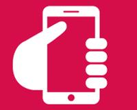 illustration of hand holding smartphone