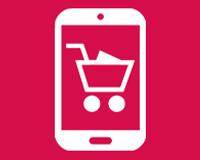 Illustration of basket inside smartphone