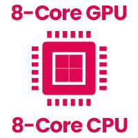 8core CPU and 8 Core GPU