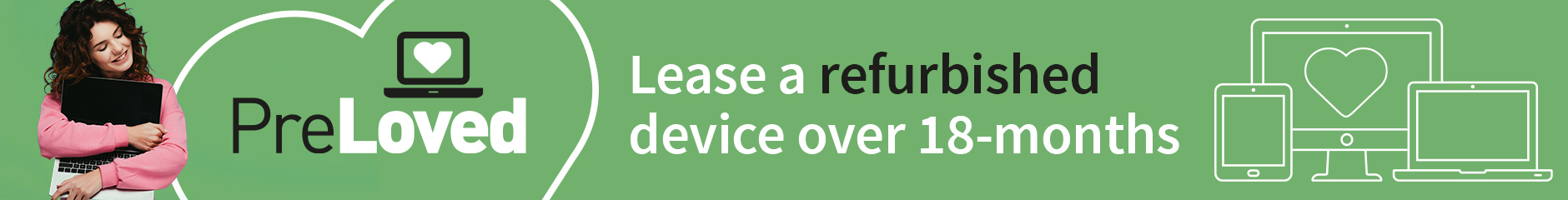 Lease a refurbished device over 18-months on PreLoved