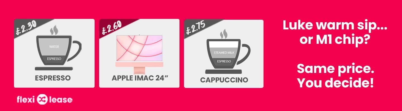 Espresso Cappuccino or iMac 24inch to lease
